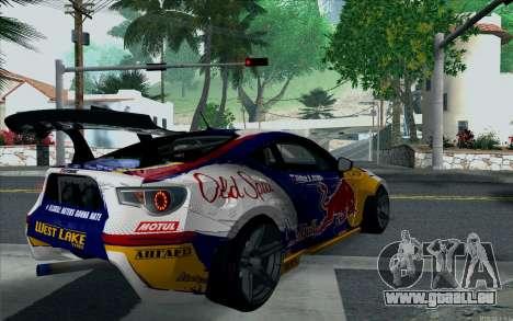 Toyota GT86 Red Bull pour GTA San Andreas laissé vue