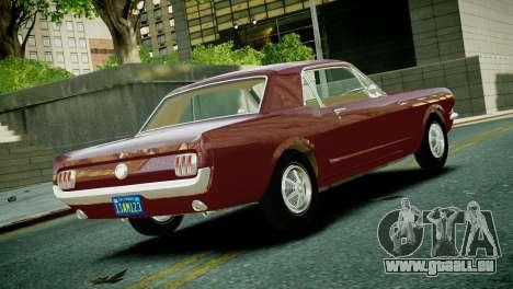 Ford Mustang 1965 pour GTA 4 est une gauche