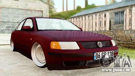 Volkswagen Passat B5 1.8 ADR für GTA San Andreas zurück linke Ansicht