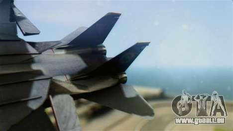 F-14D Super Tomcat Halloween Pumpkin pour GTA San Andreas sur la vue arrière gauche