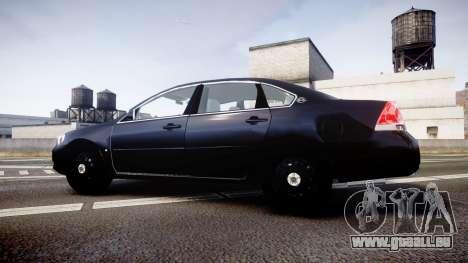 Chevrolet Impala Unmarked Police [ELS] ntw pour GTA 4 est une gauche
