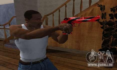 Black Lines Deagle pour GTA San Andreas deuxième écran