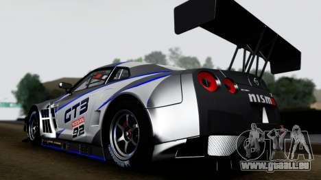 Nissan GT-R (R35) GT3 2012 PJ3 pour GTA San Andreas vue de droite