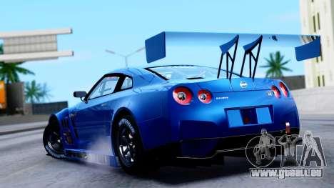 Nissan GT-R (R35) GT3 2012 PJ2 pour GTA San Andreas laissé vue