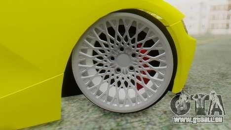 BMW Z4 Construction Ens pour GTA San Andreas sur la vue arrière gauche