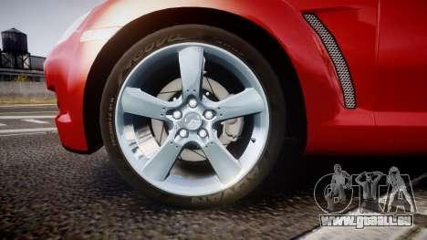 Mazda RX-8 2006 v3.2 Advan tires für GTA 4 Rückansicht