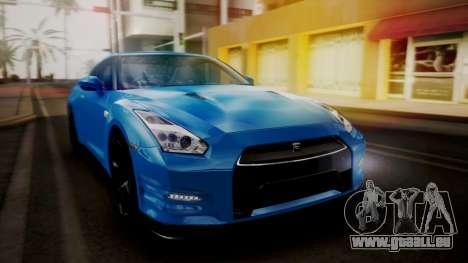 Nissan GT-R 2015 für GTA San Andreas obere Ansicht