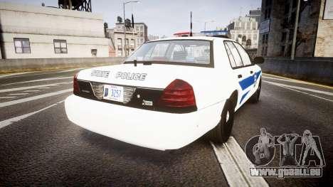 Ford Crown Victoria Indiana State Police [ELS] pour GTA 4 Vue arrière de la gauche