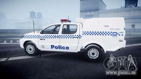 Toyota Hilux NSWPF [ELS] scoop für GTA 4 linke Ansicht