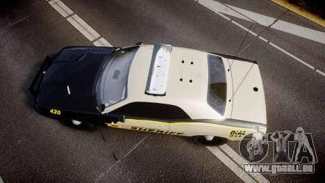 Dodge Challenger MCSO [ELS] für GTA 4 rechte Ansicht