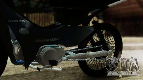 Honda Wave Stunt für GTA San Andreas Rückansicht