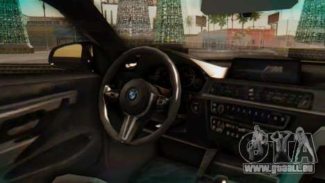 BMW M4 2015 IVF pour GTA San Andreas vue de droite