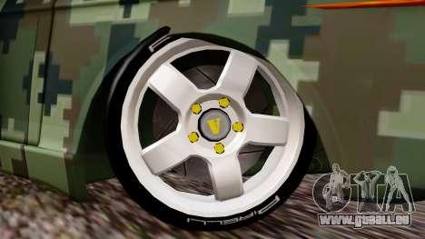 Peykan Javanan Drift pour GTA San Andreas sur la vue arrière gauche