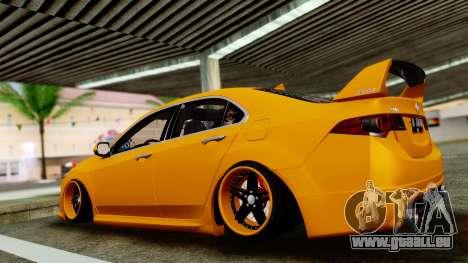 Acura TSX Hellaflush 2010 pour GTA San Andreas sur la vue arrière gauche