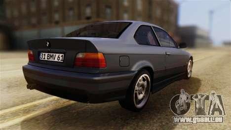 BMW 320i pour GTA San Andreas laissé vue