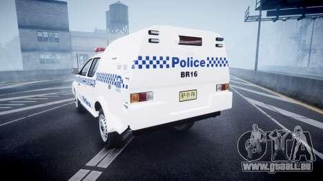 Toyota Hilux NSWPF [ELS] pour GTA 4 Vue arrière de la gauche