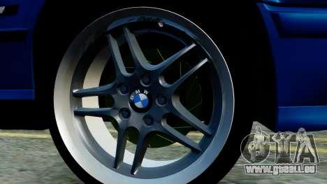 BMW M5 E34 Gradient pour GTA San Andreas sur la vue arrière gauche