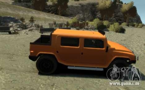 Mammoth Patriot Pickup pour GTA 4 Vue arrière de la gauche