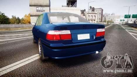 Mazda 626 pour GTA 4 Vue arrière de la gauche