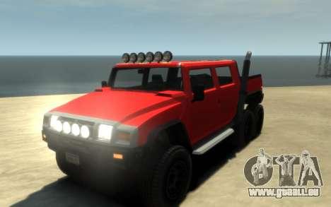 Mammoth Patriot 6x6 für GTA 4 Innenansicht