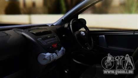 Toyota Aygo Sporting pour GTA San Andreas vue de droite