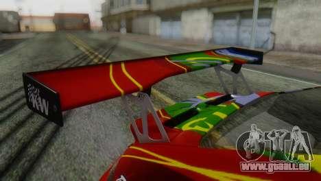 Porsche 911 GT3-RSR für GTA San Andreas Rückansicht