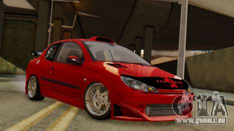 Peugeot 206 SD Coupe Tuning pour GTA San Andreas