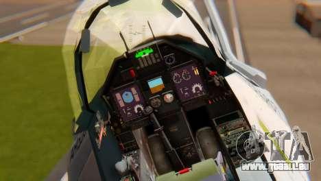 Embraer A-1 AMX FAB für GTA San Andreas Rückansicht