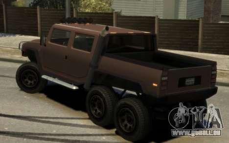 Mammoth Patriot 6x6 für GTA 4 linke Ansicht