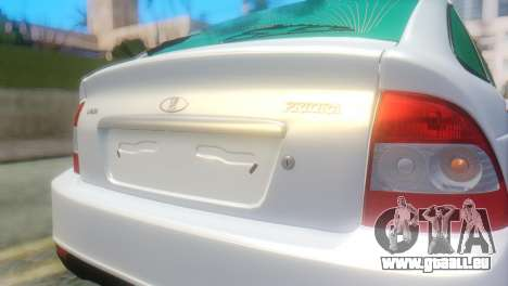 VAZ 2172 für GTA San Andreas Rückansicht