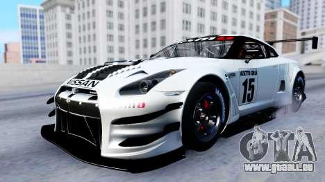 Nissan GT-R (R35) GT3 2012 PJ2 pour GTA San Andreas vue intérieure