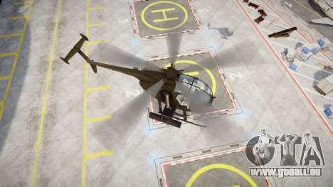 AH-6 Little Bird für GTA 4 hinten links Ansicht