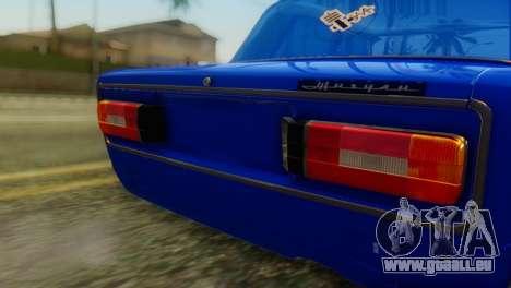 VAZ 2106 Caméléon pour GTA San Andreas vue arrière