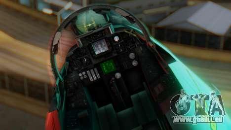 F-14A Tomcat Marynarka Wojenna RP für GTA San Andreas Rückansicht