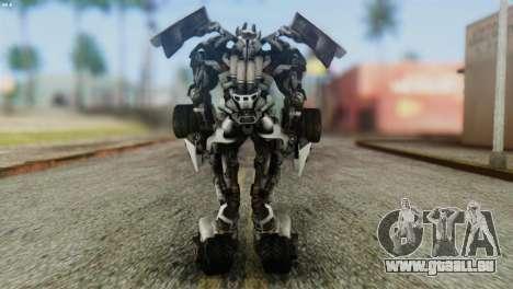 Sideswipe Skin from Transformers v2 für GTA San Andreas dritten Screenshot