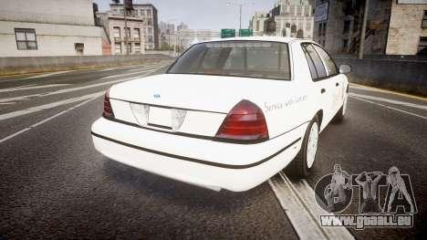 Ford Crown Victoria Sacramento Sheriff [ELS] pour GTA 4 Vue arrière de la gauche
