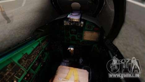 Mil Mi-24V Czech Air Force Tigermeet pour GTA San Andreas vue arrière