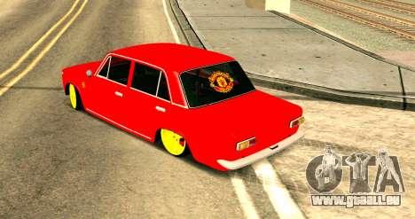 VAZ 2101 MU pour GTA San Andreas sur la vue arrière gauche
