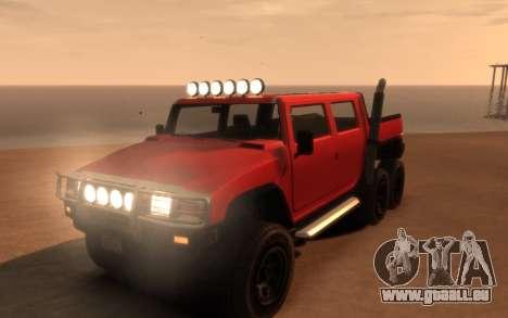 Mammoth Patriot 6x6 für GTA 4 Seitenansicht