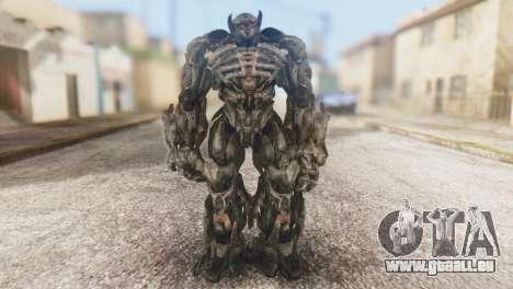 Shockwave Skin from Transformers v1 für GTA San Andreas zweiten Screenshot