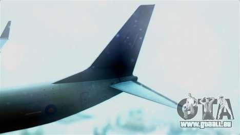 Boeing 737-800 Royal Air Force für GTA San Andreas zurück linke Ansicht