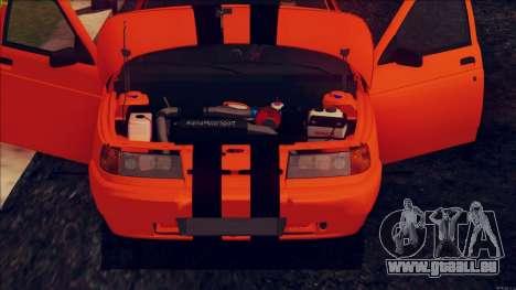 VAZ 2112 Turbo pour GTA San Andreas vue arrière