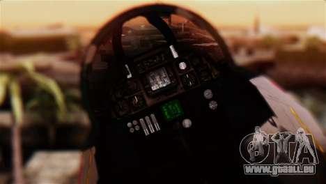 F-14A Tomcat IRIAF für GTA San Andreas Rückansicht