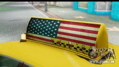 New Taxi pour GTA San Andreas vue arrière