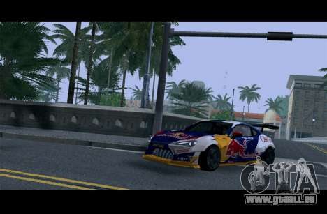 Toyota GT86 Red Bull pour GTA San Andreas vue intérieure
