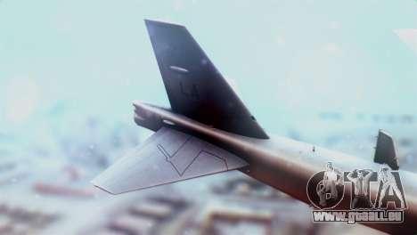 Boeing B-52H Stratofortress pour GTA San Andreas sur la vue arrière gauche