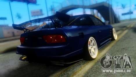 Nissan 180SX Uras Bodykit pour GTA San Andreas laissé vue