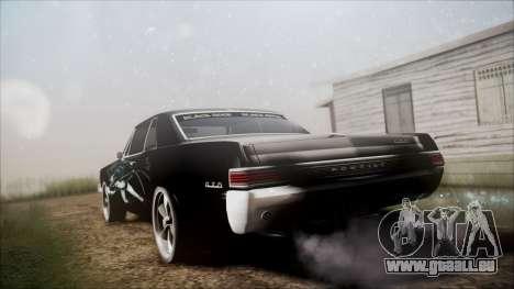 Pontiac GTO Black Rock Shooter für GTA San Andreas linke Ansicht