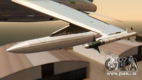 Embraer A-1 AMX FAB pour GTA San Andreas vue de droite