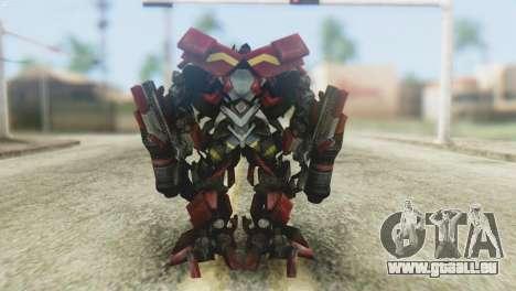 Ironhide Skin from Transformers v1 pour GTA San Andreas troisième écran